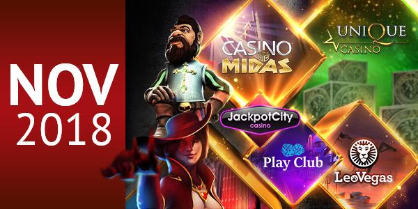 Top 5 Casinos for November