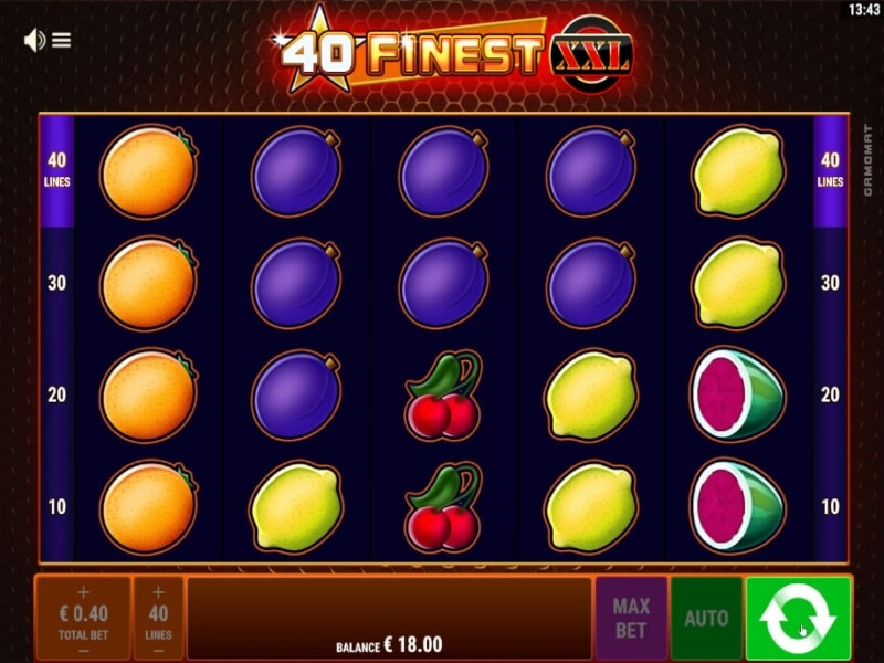 About the 40 Finest XXL Online Slot Game