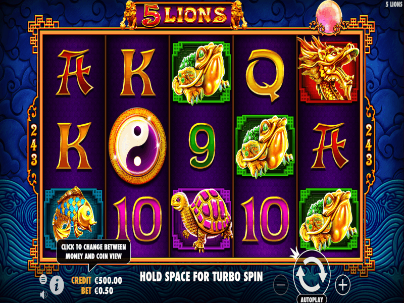 5 Lions Online Slots Review