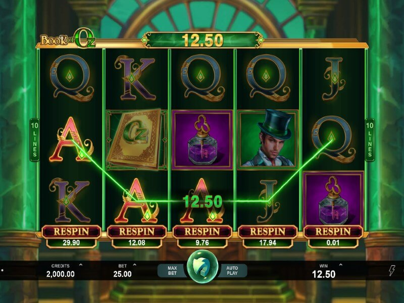 Book of Oz Slots Game