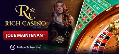 Jouez à des jeux de roulette sur Rich Casino