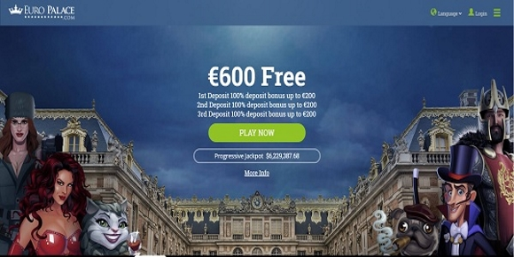 Euro Palace Online Casino Home Page