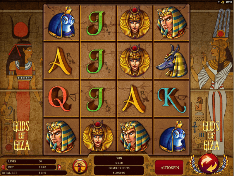 Gods of Giza Online Slots Review