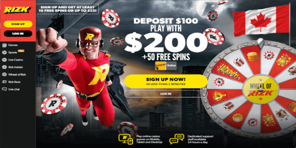 Rizk Online Casino Canada Review