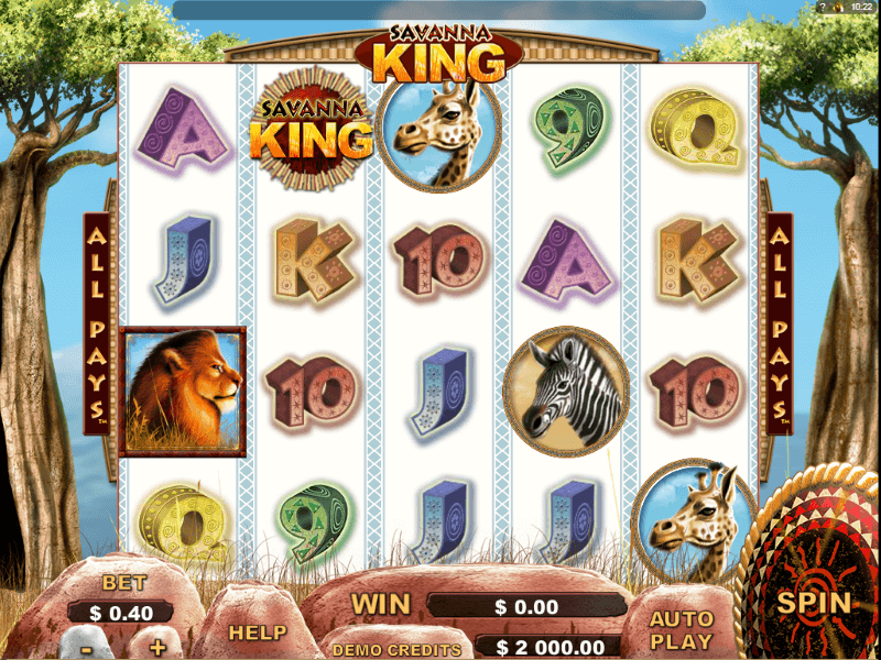 Savanna King Online Slots Review