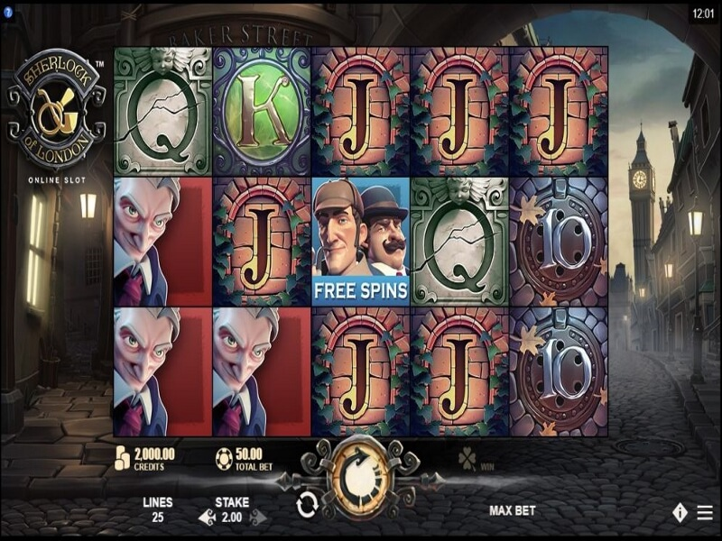 About the Sherlock of London™ Online Slots Game