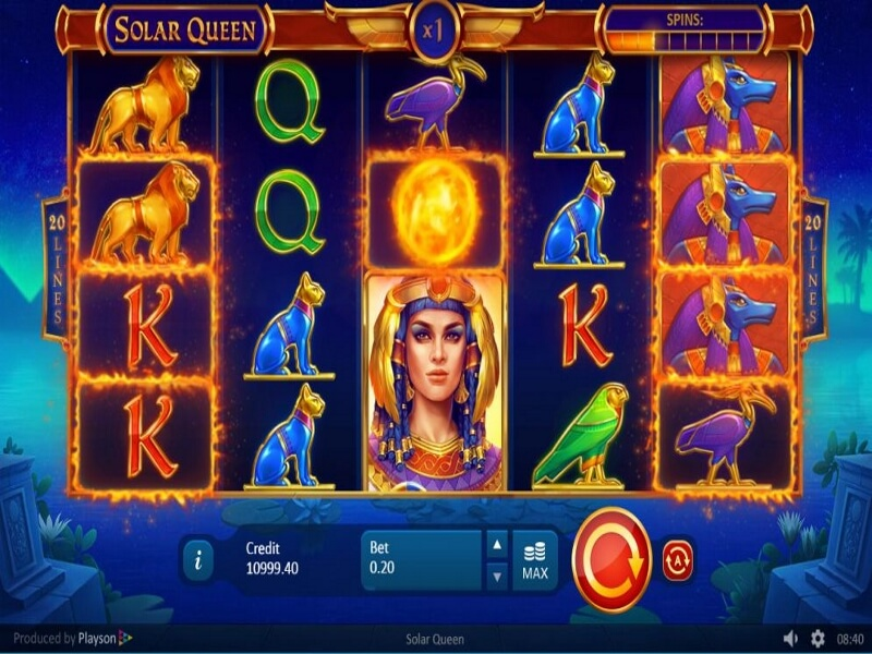 About the Solar Queen Online Slots Game