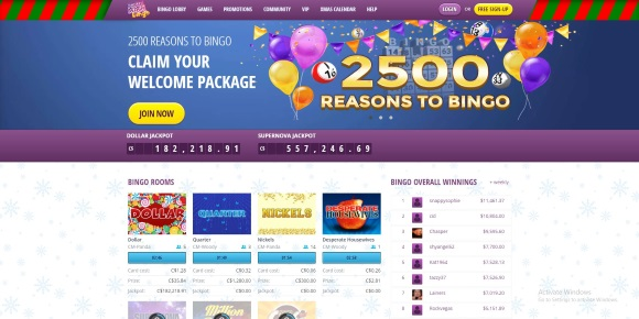 Le Bingo en ligne de South Beach Bingo en action
