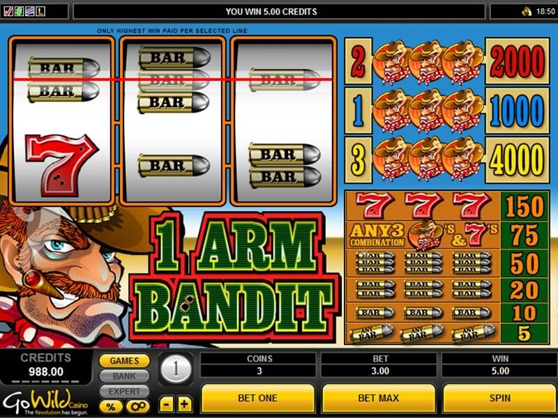 The One Armed Bandit Online Slots Review