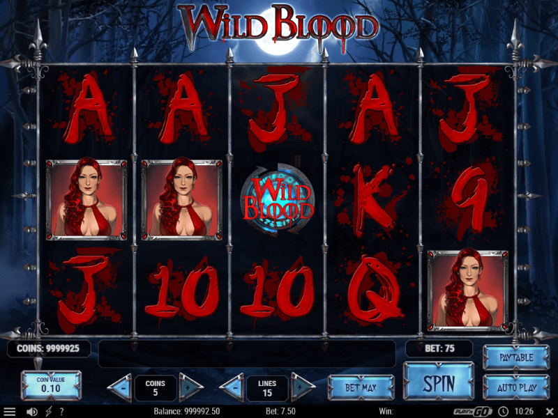 Wild Blood Slots Game