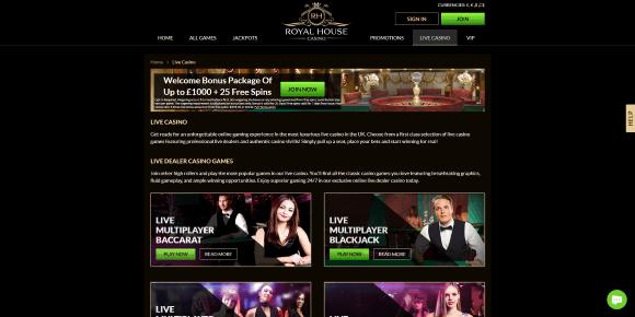 Royal House Live Casino
