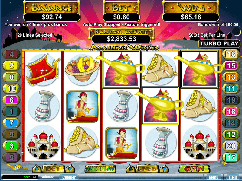 Aladdin's Wishes Online Slots