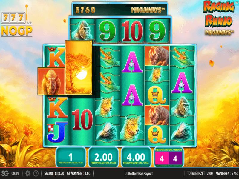 Raging Rhino Megaways™ Online Slots Game
