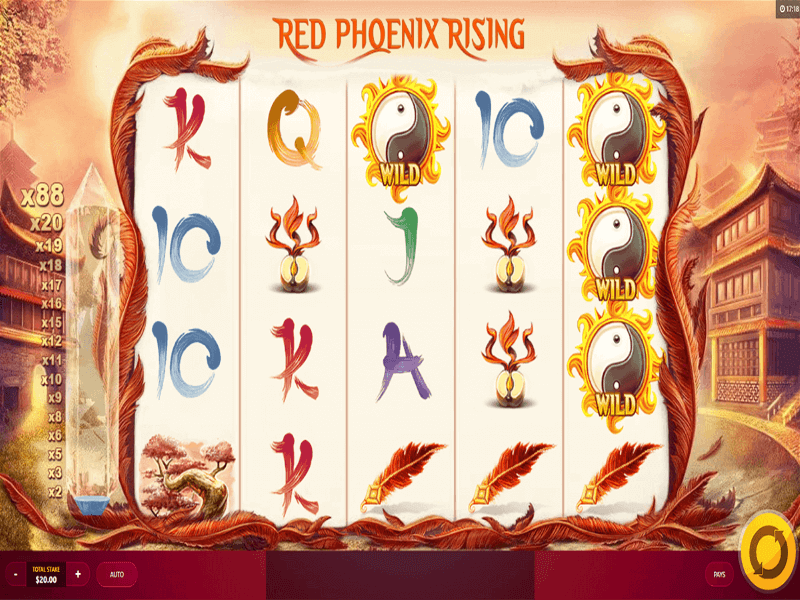 Red Phoenix Rising Online Slots Game