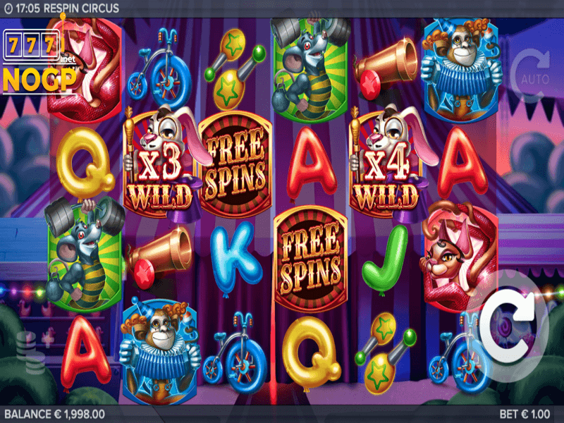 About the Respin Circus Online Slot Game