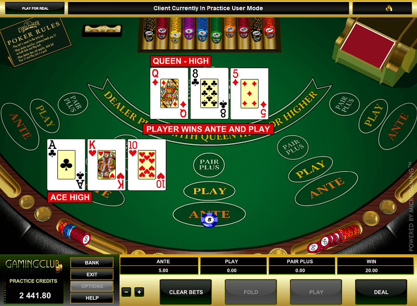 3 Card Multi-Hand Poker Gold