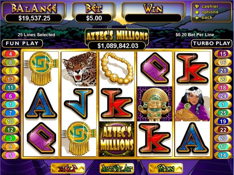 Aztec's Millions Slot Review (RealTime Gaming)