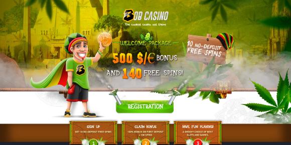 Bob Casino Homepage