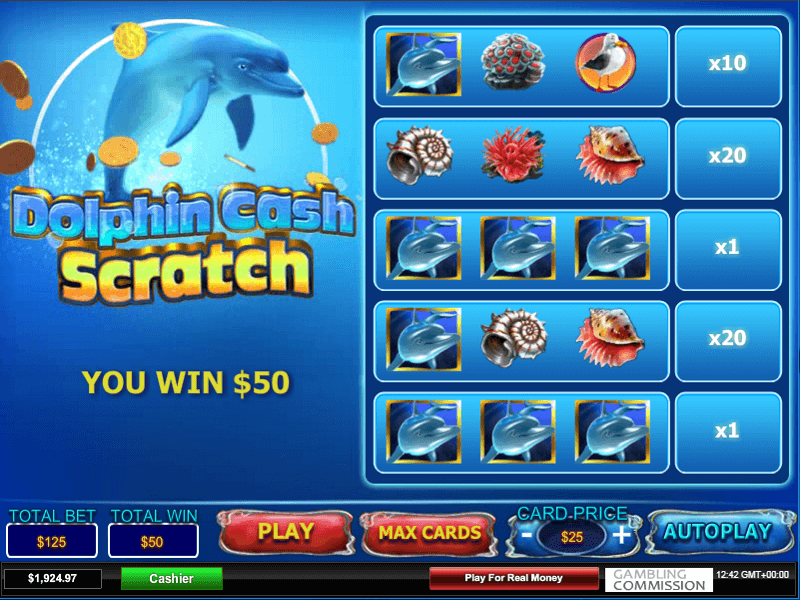Dolphin Cash Online Scratch Card