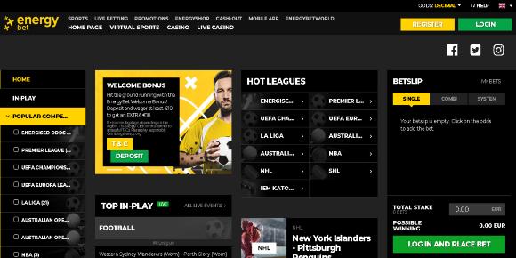 Energy bet screenshot