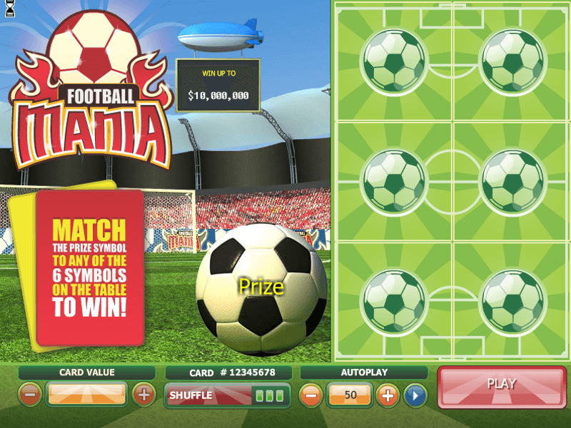 Football Mania Scratch Card