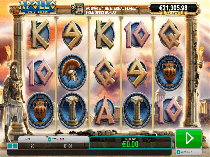 Apollo God of the Sun Slots Game