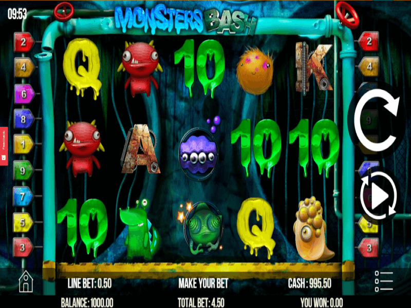 Monsters Bash Slots Game