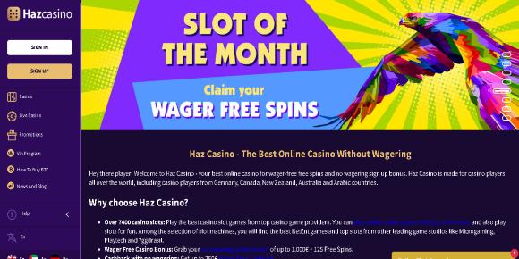 Haz casino screenshot
