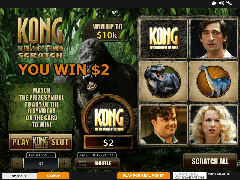 Kong Scratchcards