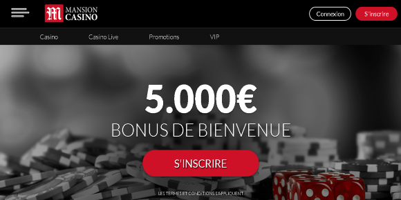 mansion casino screenshot