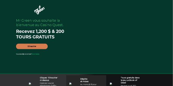 Mr Green casino en ligne