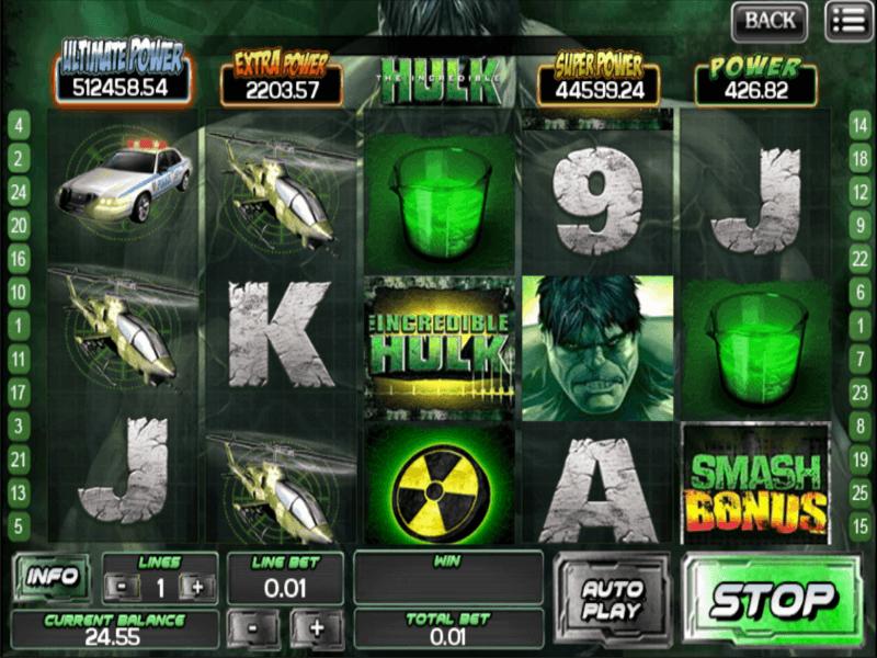 The Incredible Hulk Slots
