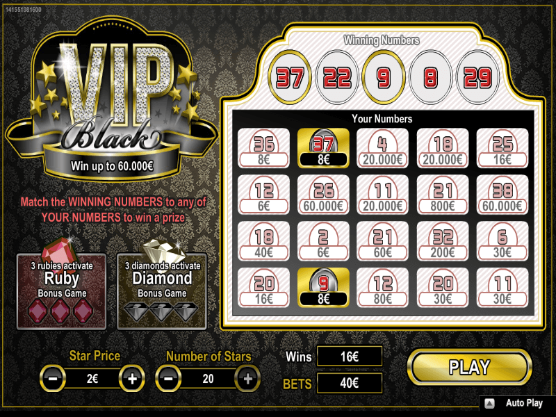 Online VIP Black Scratch Card