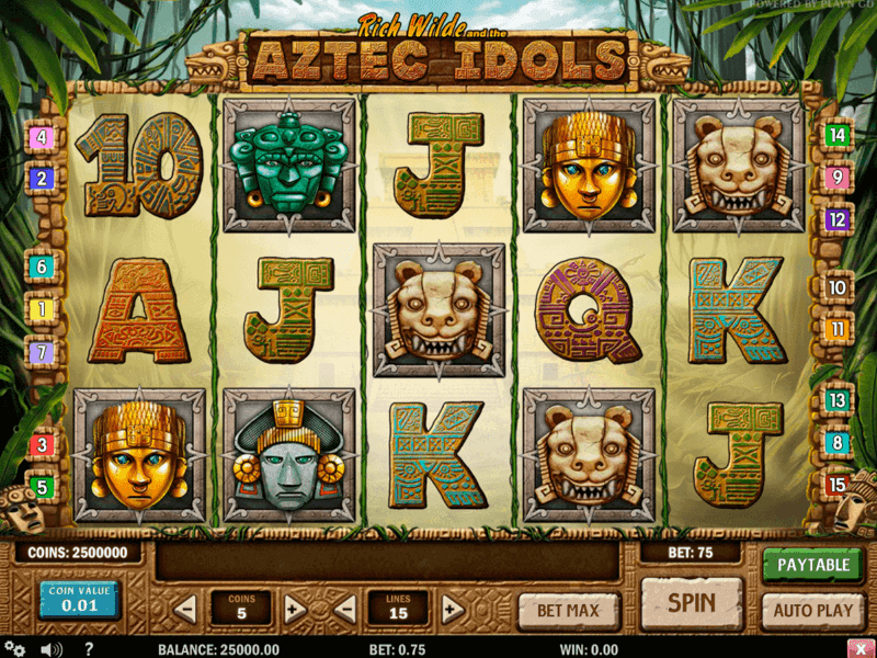 Rich Wilde and the Aztec Idols Slots