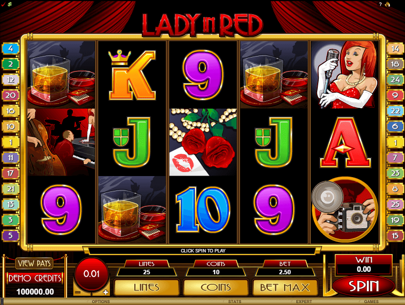 Lady in Red Video Slot