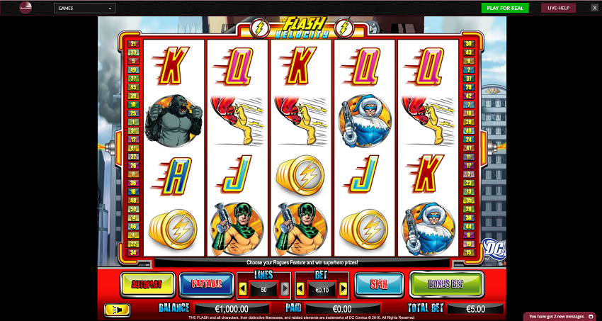 The Flash Slots Game