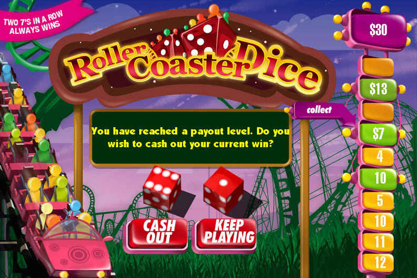 Roller Coaster Dice Game
