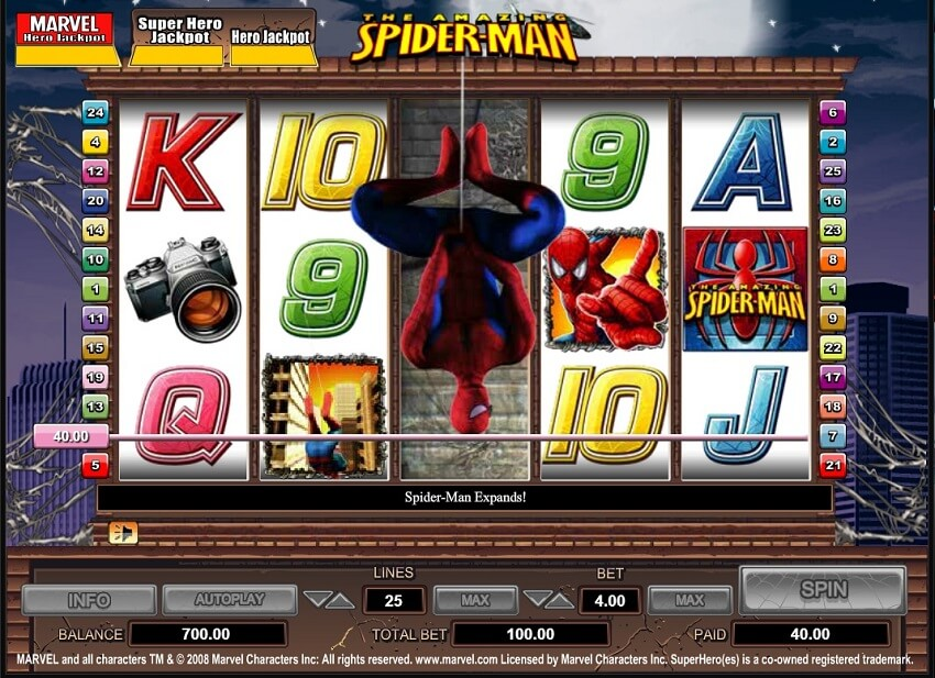 SpiderMan Slots