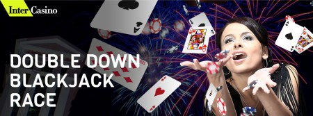 Intercasino double down blackjack