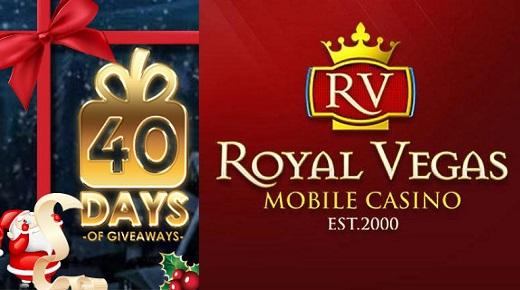 40 Days Giveaway at Royal Vegas