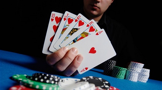 Poker Table and Cards