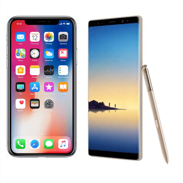 The iPhone X vs the Samsung Galaxy Note 8